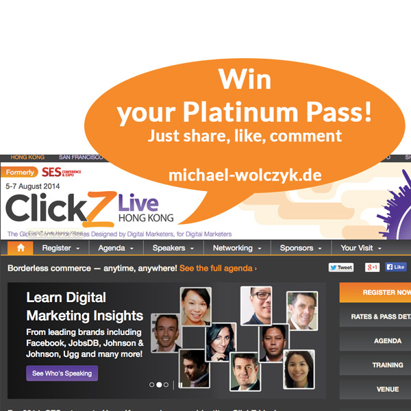Clickz Live in Hong Kong – Win a Platinum Pass!